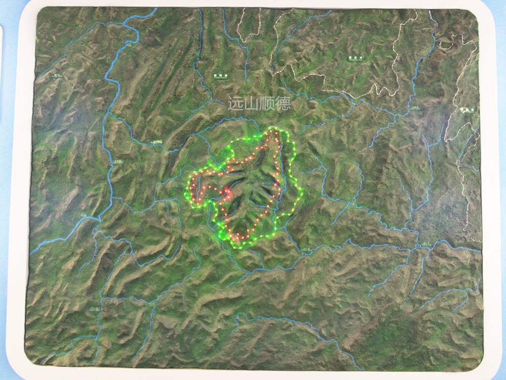 北京远山顺德模型--梵净山区域沙盘